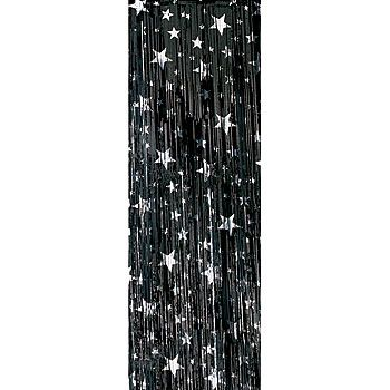 These Black And Silver Stars Premium Vinyl Curtains Make A Shiny