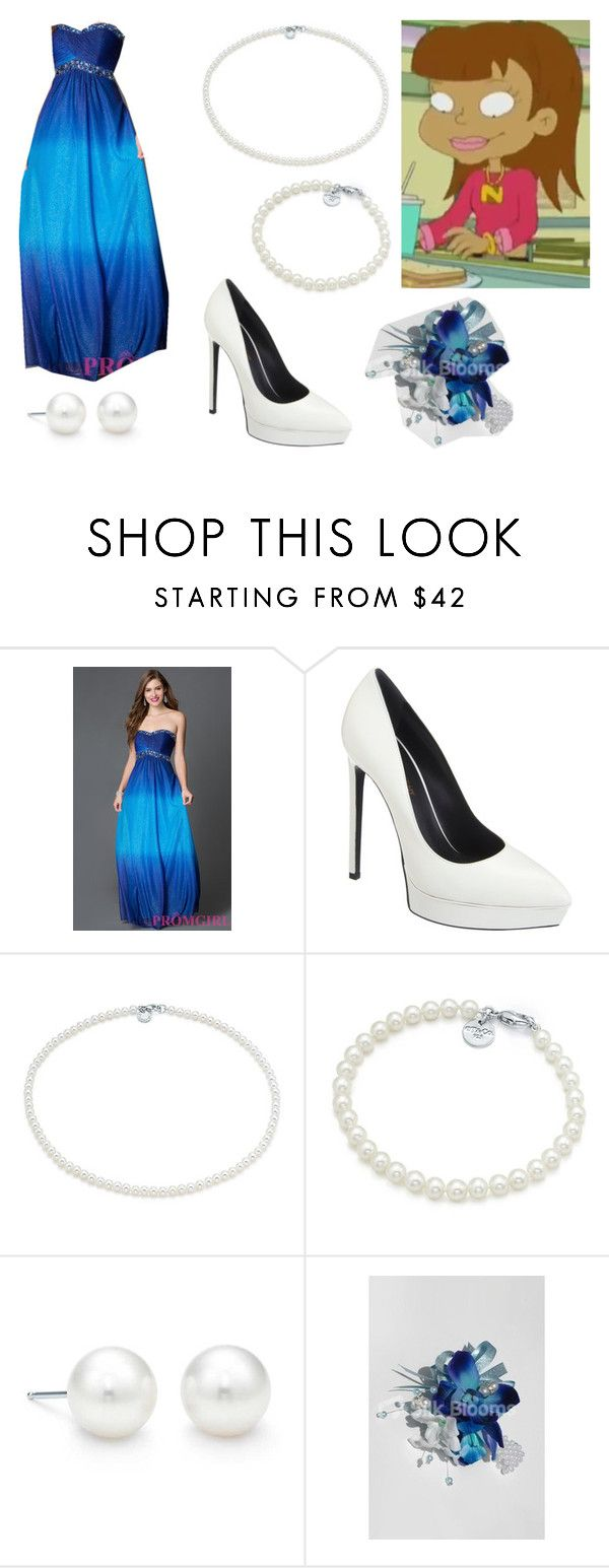 """Nicole High School Daze Prom"" by brainyxbat ❤ liked on Polyvore featuring Onyx Nite, Yves Saint Laurent and Tiffany & Co."