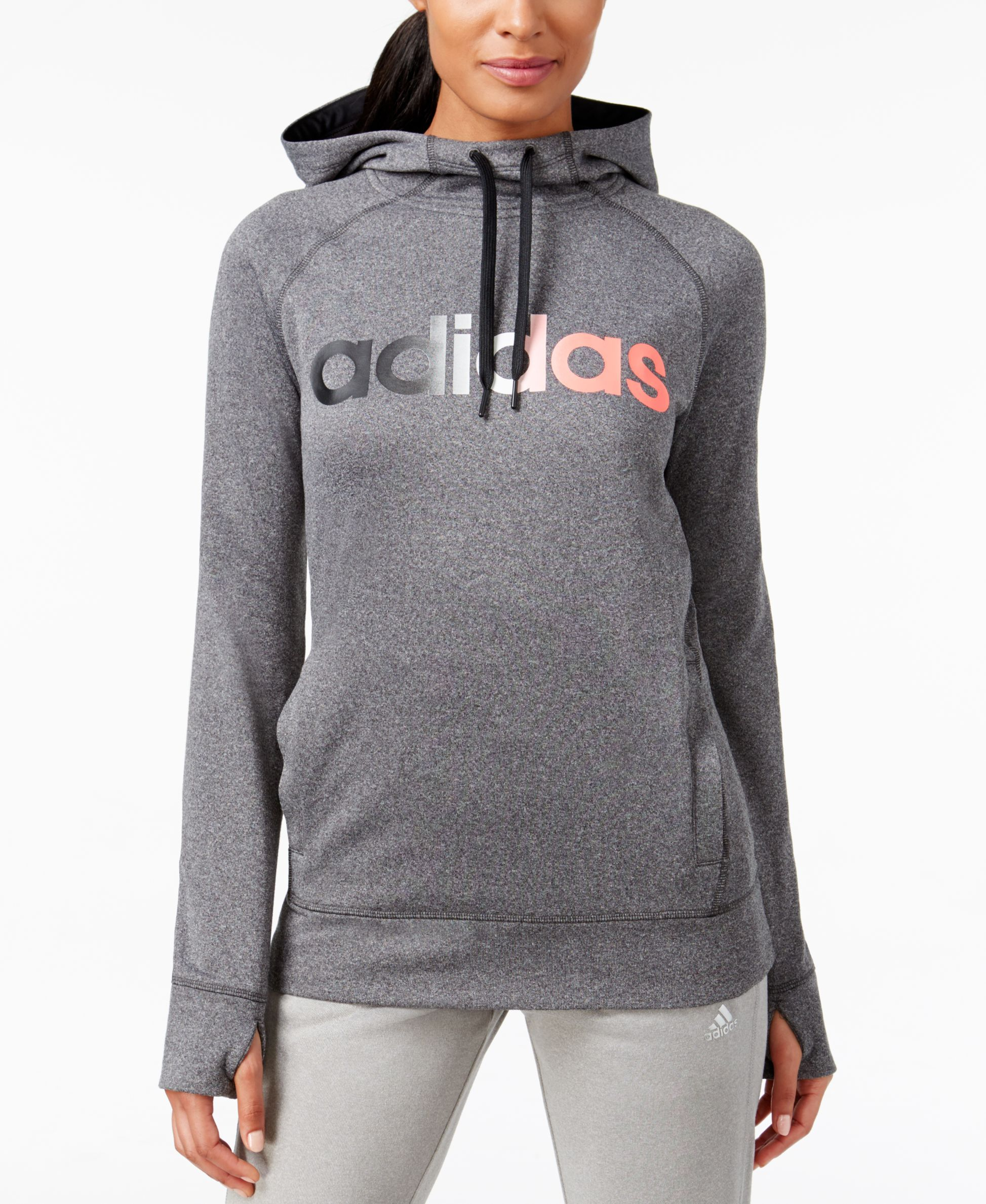 adidas ClimaWarm Ultimate Fleece Logo Hoodie Womens tops