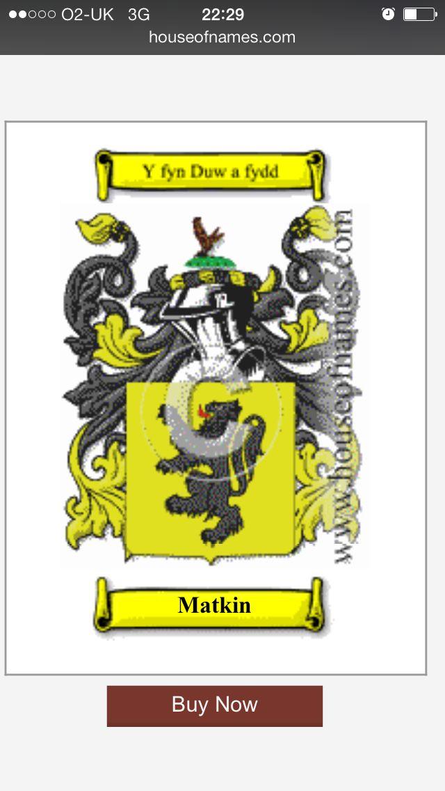 Matkin Coat d'Arms
