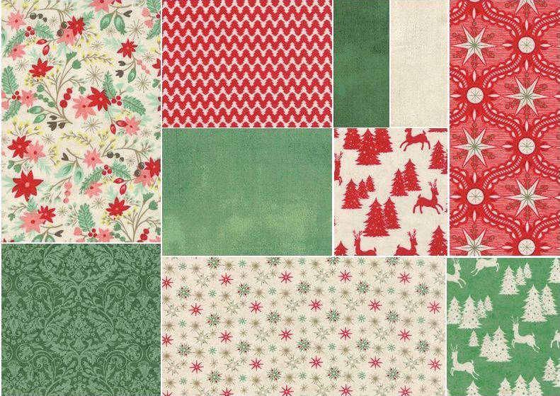 A great Christmas line from Moda is filled with fun little retro prints