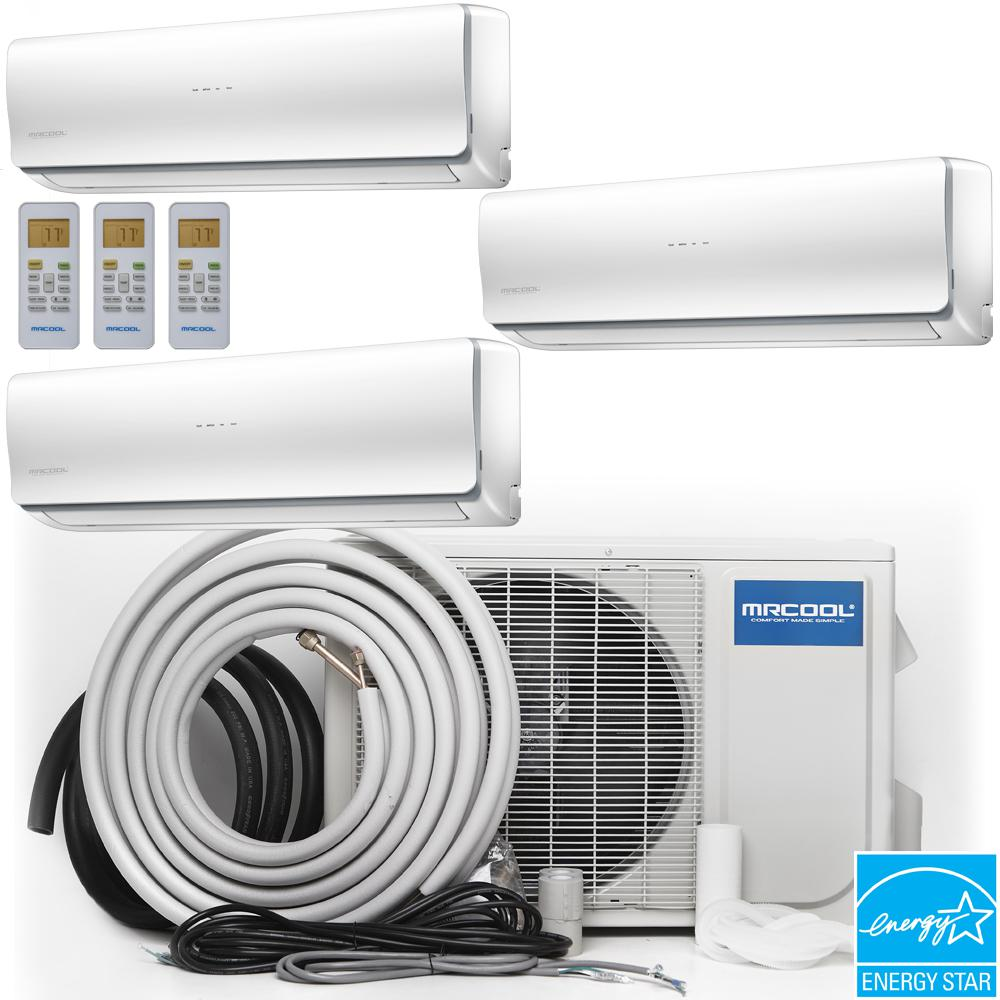 Mrcool Olympus 48 000 Btu 4 Ton Ductless Mini Split Air Conditioner And Heat Pump 25 Ft Insta Ductless Mini Split Ductless Heat Pump Ductless Air Conditioner