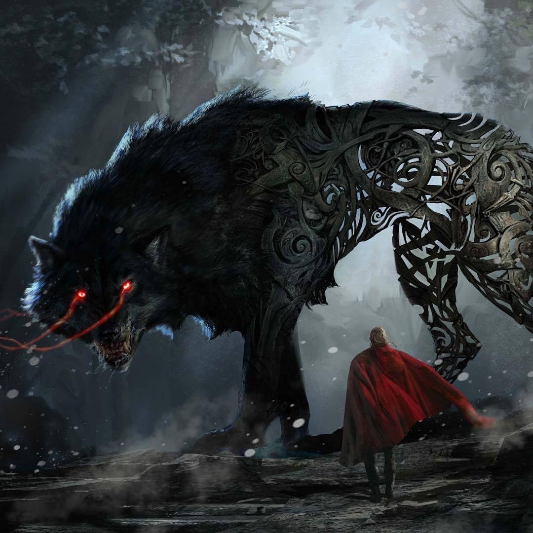 Thor Concept Art Fenris Wolf