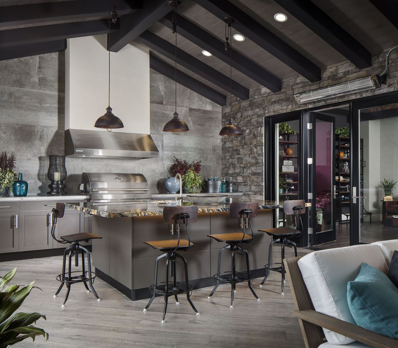 This outdoor kitchen in an mdd custom home