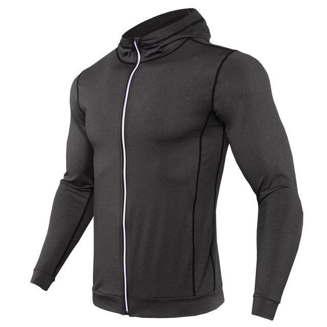 Men/'s Fitness Sports Running Coat Autumn Winter Thermal Zipper Quick Dry Jacket