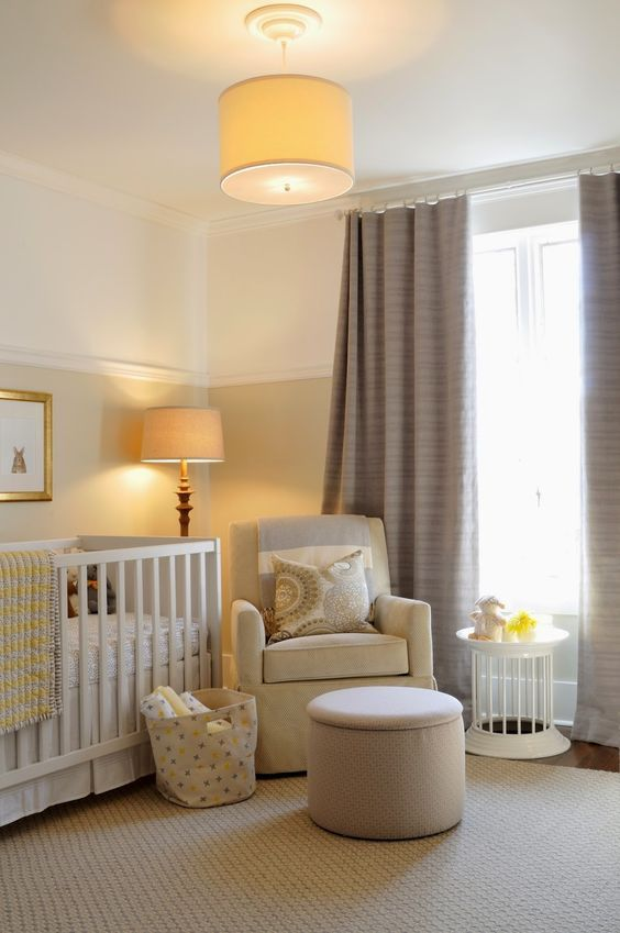 Take a minute to look at our cute neutral baby room. Description ...