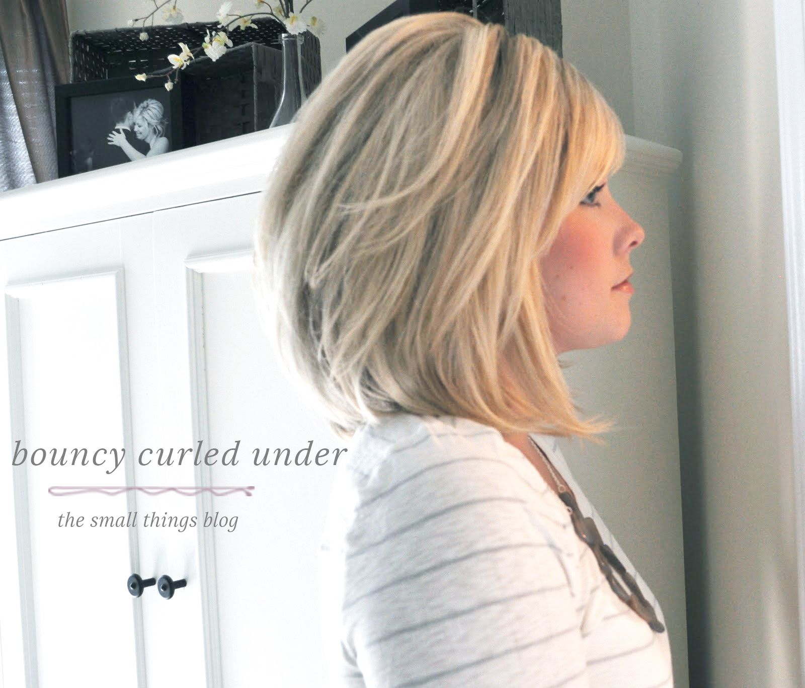 Bouncy curled under from the small things blog new hair styles