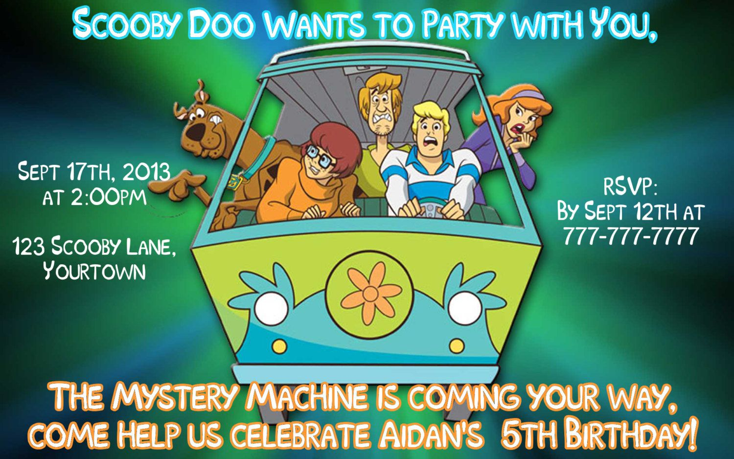 Scooby Doo Invitations Printable Free Scooby – Scooby Doo Party Invitations