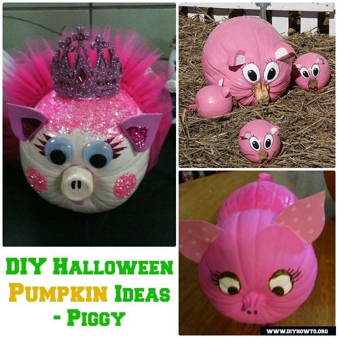 No Carve Halloween Pumpkin Decoration Crafts  Instructions DIY - halloween diy ideas