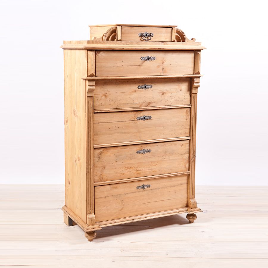 Antique Swedish Tall Chest Of Drawers In Pine C 1870 Antique Pine Furniture Antique Bedroom Furniture Antique Furniture Vintage