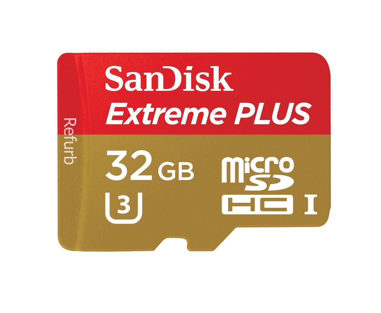 Sandisk Extreme Plus 32gb Microsdxc Uhs I U3 Card Sdsqxsg 032g Gn6ma Certified Refurbished Camera Photo Accessories Cards Camera Sd Card
