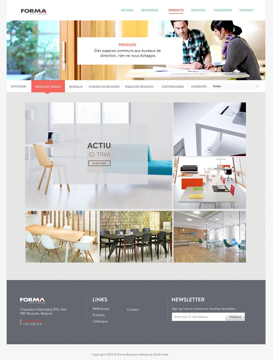 Forma Office Furniture Website Products