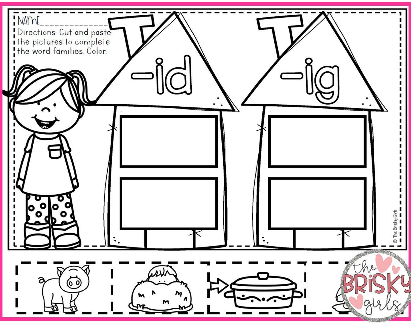 Word Families Word Families Kindergarten Word Families