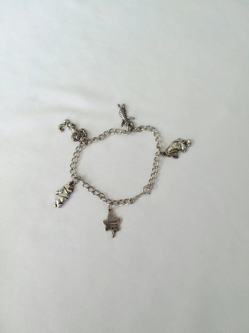 d9470084a78 Vintage Disney Winnie the Pooh Sterling Silver Charm Bracelet