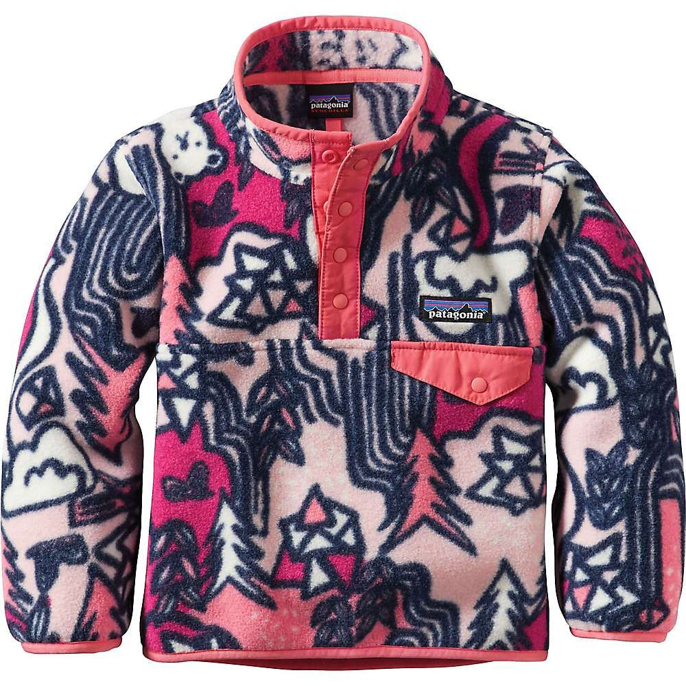 e161c26a Patagonia Baby Lightweight Synchilla Snap-T Pullover - 5T - Waterfall /  Feather Pink