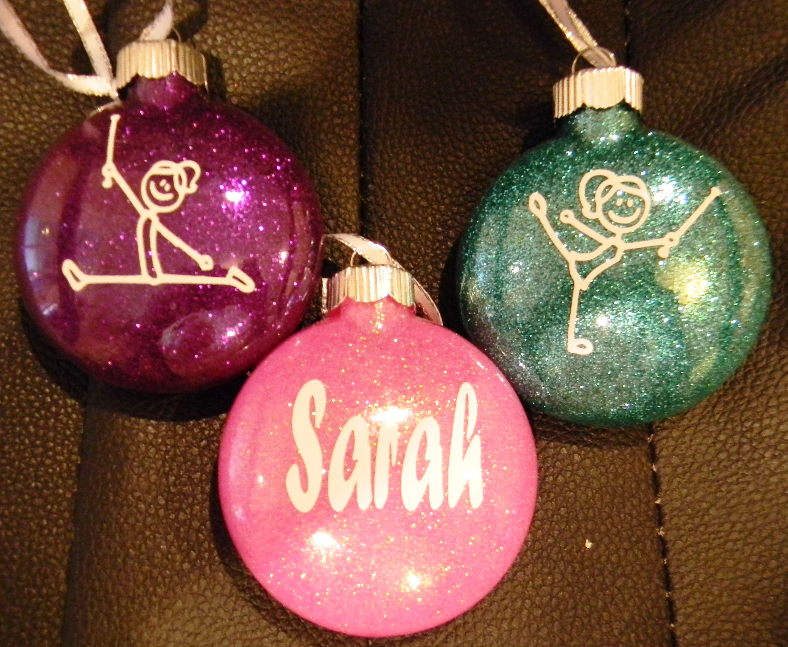 Personalized Twirler Christmas Ornaments Christmas Glitter