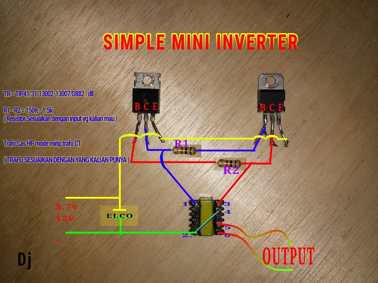 Membuat Inverter Mini Joule Thief Menggunakan Trafo Cas Hp Metode Trafo Ct Haloo Ketemu Lagi Ni Sama Blogs G Rangkaian Elektronik Teknik Listrik Stopkontak