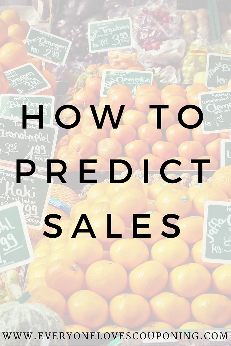 Couponers Tip: How To Predict Sales!