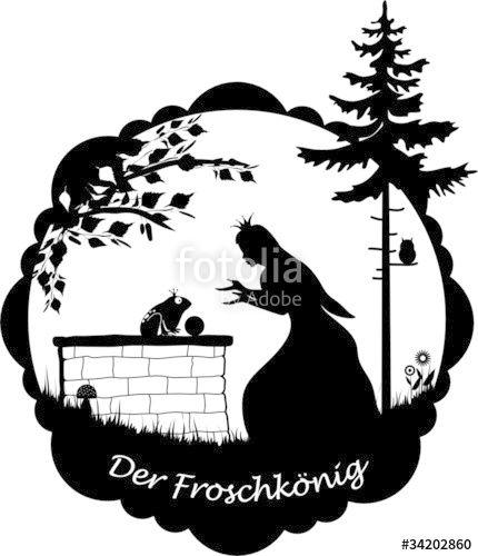 Laden Sie Den Lizenzfreien Vektor Der Froschkonig Von Askaja Zum Gunstigen Preis Auf Fotolia Com Herunter Froschkonig Schattentheater Figuren Scherenschnitt