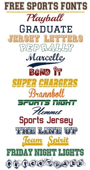 Free Sports Fonts Sports Fonts Scrapbook Fonts Silhouette Fonts
