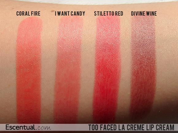 677d9545 Too Faced La Creme Lip Cream Swatches | Escentual's Beauty Buzz ...