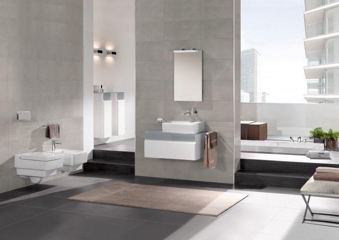 Cuarto de baño a doble altura y moderno