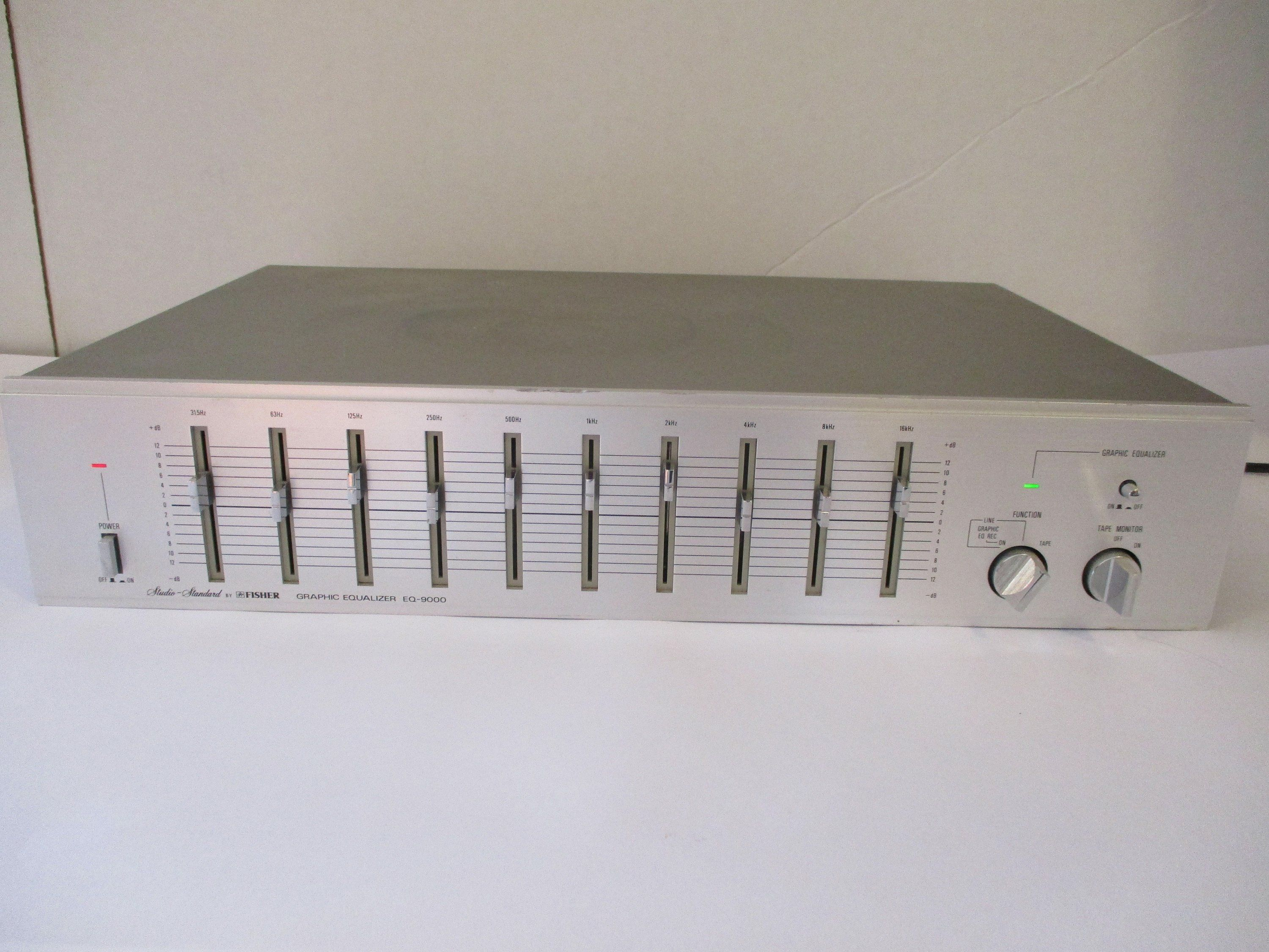 Fisher Eq 9000 Graphic Equalizer Silver Face Stereo Component By Theposterposter On Etsy Black And White Posters Equalizer Graphic
