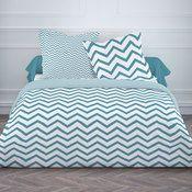 parure housse de couette taie coton fermeture zip zigzag scandi grafism zip bedroom. Black Bedroom Furniture Sets. Home Design Ideas