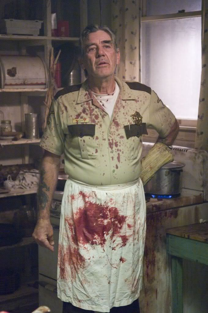 Sheriff Hoyt from The Texas Chainsaw Massacre (2003) - never really cared for all the reboots of most great horror flicks. Loved Leather Face and did not like the over roided one they used in this one.