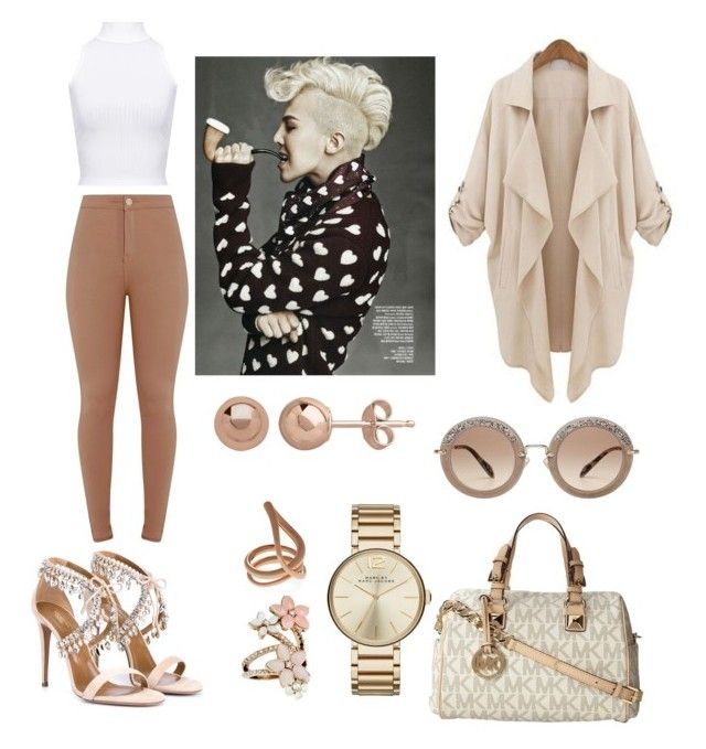 Untitled #381 by karla-armstrong on Polyvore featuring polyvore fashion style WearAll Aquazzura Michael Kors Marc by Marc Jacobs Accessorize Charlotte Chesnais Miu Miu clothing