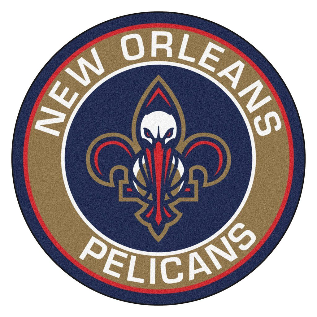 New Orleans Pelicans Team Emblem Throw Rug New Orleans