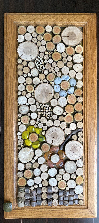 Flowers in the woods etsy in 2020 wood wall art diy