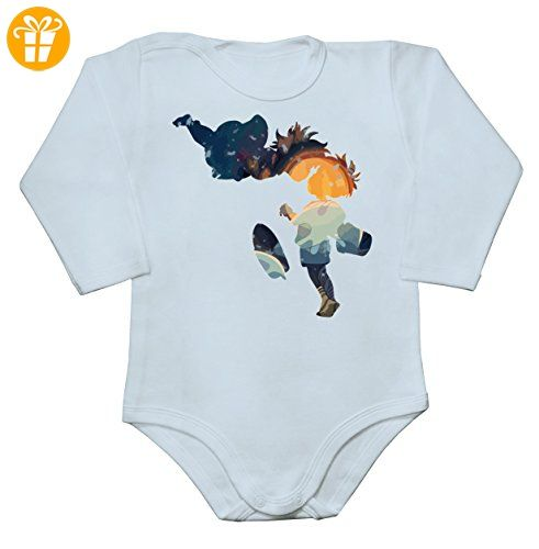 Silhouettes Of Ponyo And Sousuke Artwork Baby Long Sleeve Romper Bodysuit XX-Large - Baby bodys baby einteiler baby stampler (*Partner-Link)