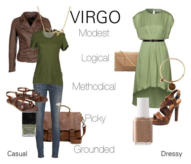 Virgo: Green and Brown by gigglemadly on Polyvore featuring BLK DNM, MuuBaa, rag & bone, Bottega Veneta, Mossimo, Roots, Yves Saint Laurent, Alex and Ani, Essie and Rebecca Minkoff
