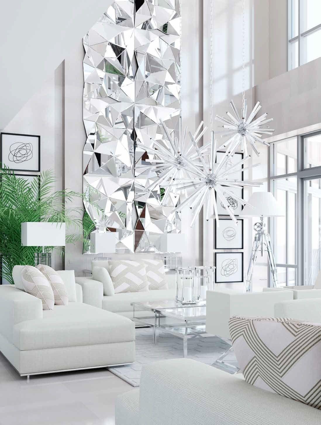crisp white fresh interior design loft living