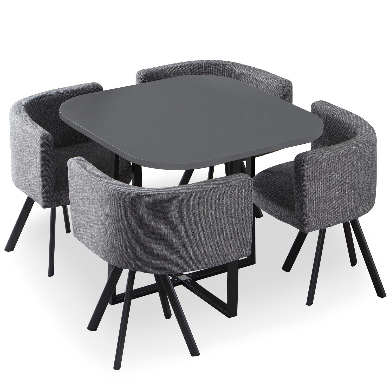 chaises oslo gris et tissu gris