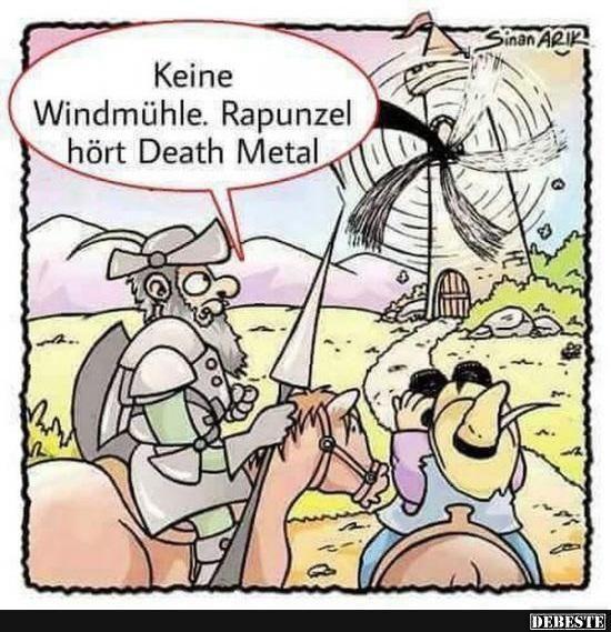 Keine Windmühle. Rapunzel hört Death Metal.. Keine Windmühle. Rapunzel hört Death Metal.. | Lustige Bilder, Sprüche, Witze... -