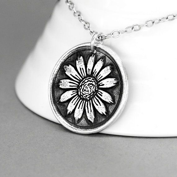 Sunflower necklaceboho flowers flower necklace sterling silver sunflower necklaceboho flowers flower necklace sterling silver flower pendant bohemian necklace aloadofball Choice Image