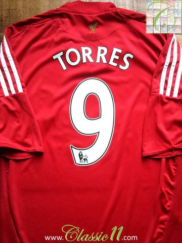 3ccb1ed71 Relive Fernando Torres  2008 2009 Premier League season with this vintage  Adidas Liverpool home football shirt.