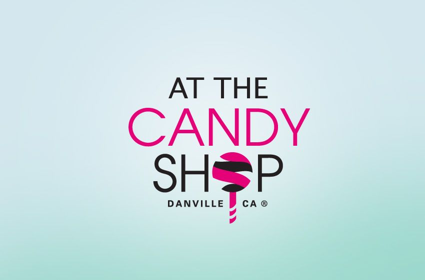 candy store logos at the candy shop corporate identity