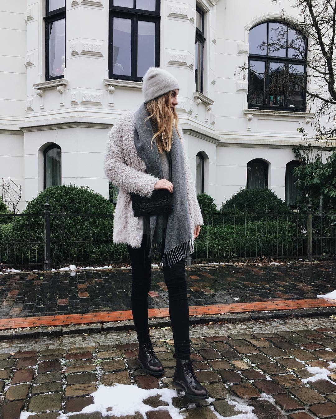 Instagram @euphoria_the : teddy jacket, fake fur, oversized, doc martens,  acne