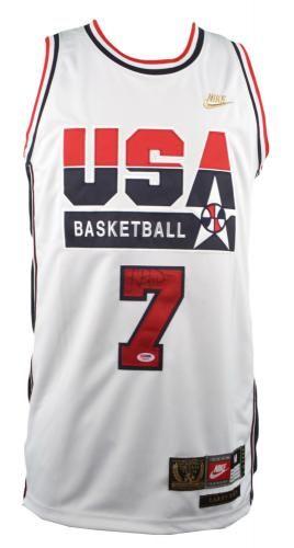 brand new d9bb6 4b04d Larry Bird Autographed Dream Team Jersey - Sports ...