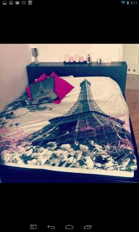 This Paris bed set rocks OMG
