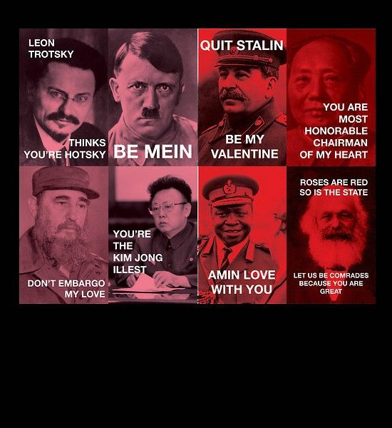 Dictator Tyrannical Valentines Be Mein...these Are Terrible But Hilarious.