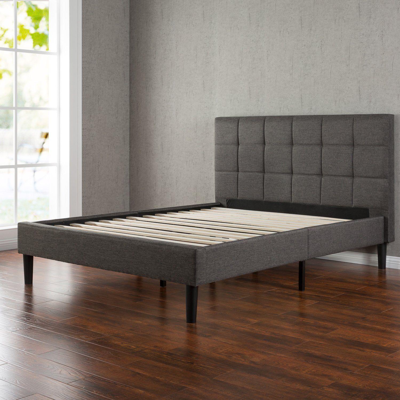 203 53 Prime Amazon Com Zinus Upholstered Square Stitched