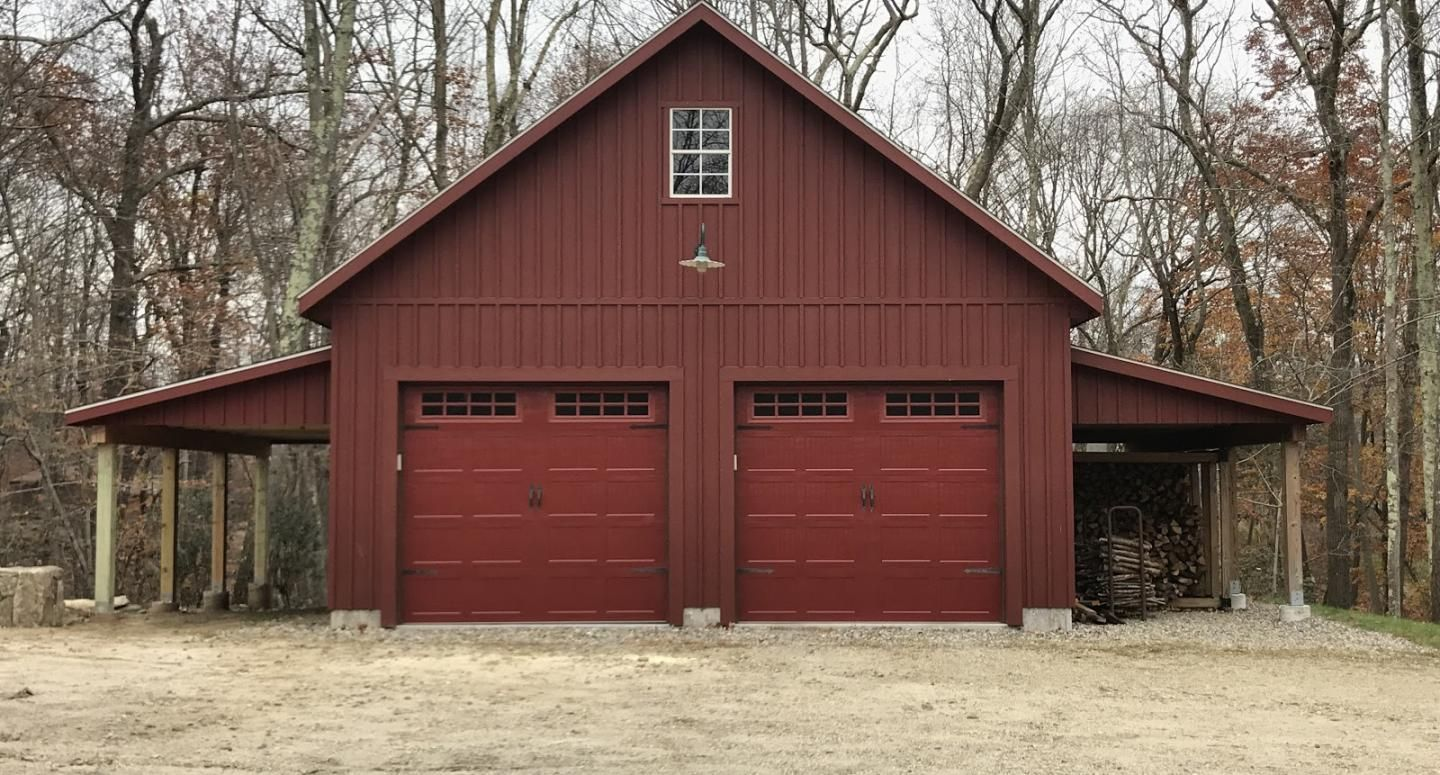 Two Car Garage with Leanto in 2020 (With images) Two