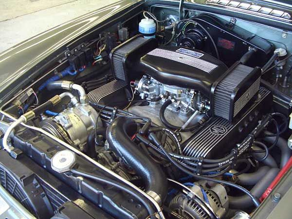 1973 MGB-GT with Buick 215 V8, Holley Hi-Tek Air Cleaner