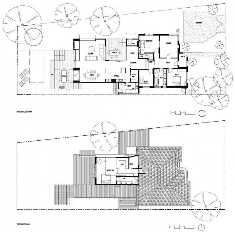 Maison contemporaine à Brighton en Australie - plan plans maisons