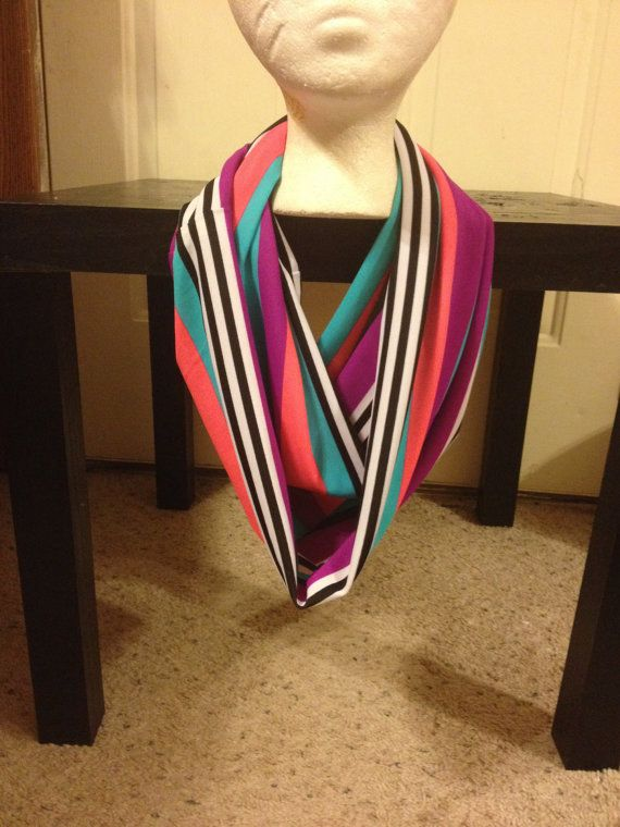 Multi-Color Infinity Scarf by MarkishaRay on Etsy
