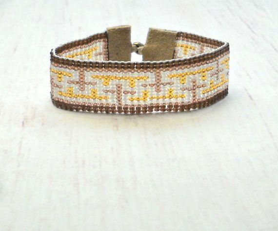 Hippie pulsera - semilla grano pulsera - pulsera de cuentas - para mujer - pulsera ajustable pulsera - Boho - joyería Hippie